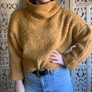 Free People Chunky Knit Turtleneck Sweater